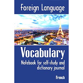 Overtop Picture of Foreign Language Vocabulary - French