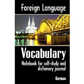 Overtop Picture of Foreign Language Vocabulary - German