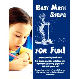 Overtop Picture of Easy Math Steps for Fun!