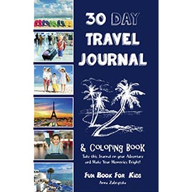 Cover of 30 Day Travel Journal & Coloring Book